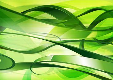 Fondo verde abstracto enredado