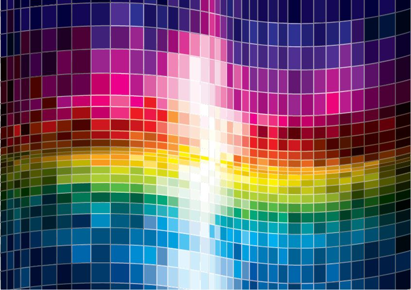 Colorful Spectrum Abstract Background