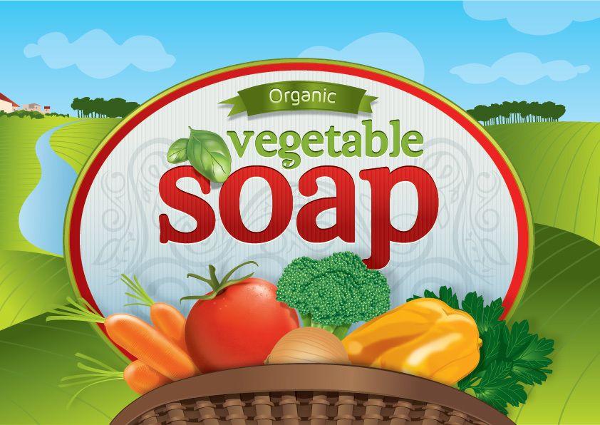 Logotipo de jabón vegetal orgánico