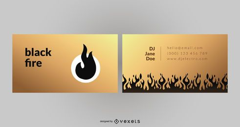 Black Fire Business Card