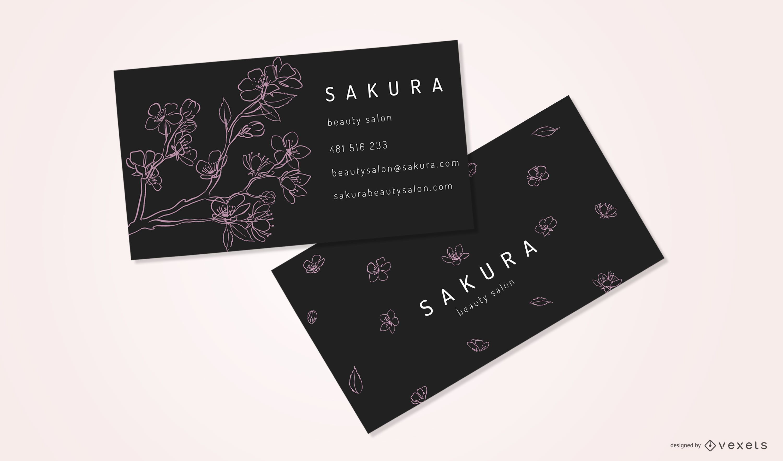 Black Avon Business Card