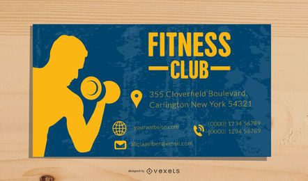Modelo de Cartão-de-visita - fitness