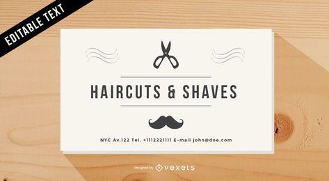 Cartão de visita da barbearia do vintage