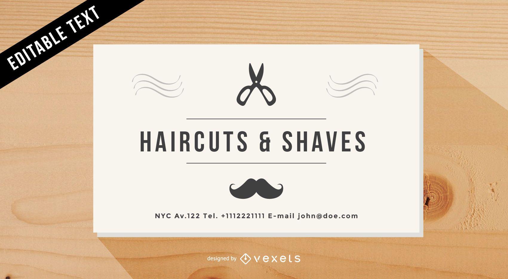 Tarjeta de visita de peluquería vintage