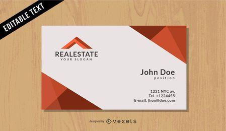 Cartão preto dos bens imobiliários