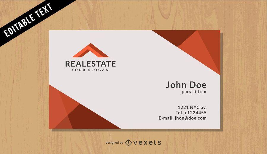 Real Estate schwarze Visitenkarte