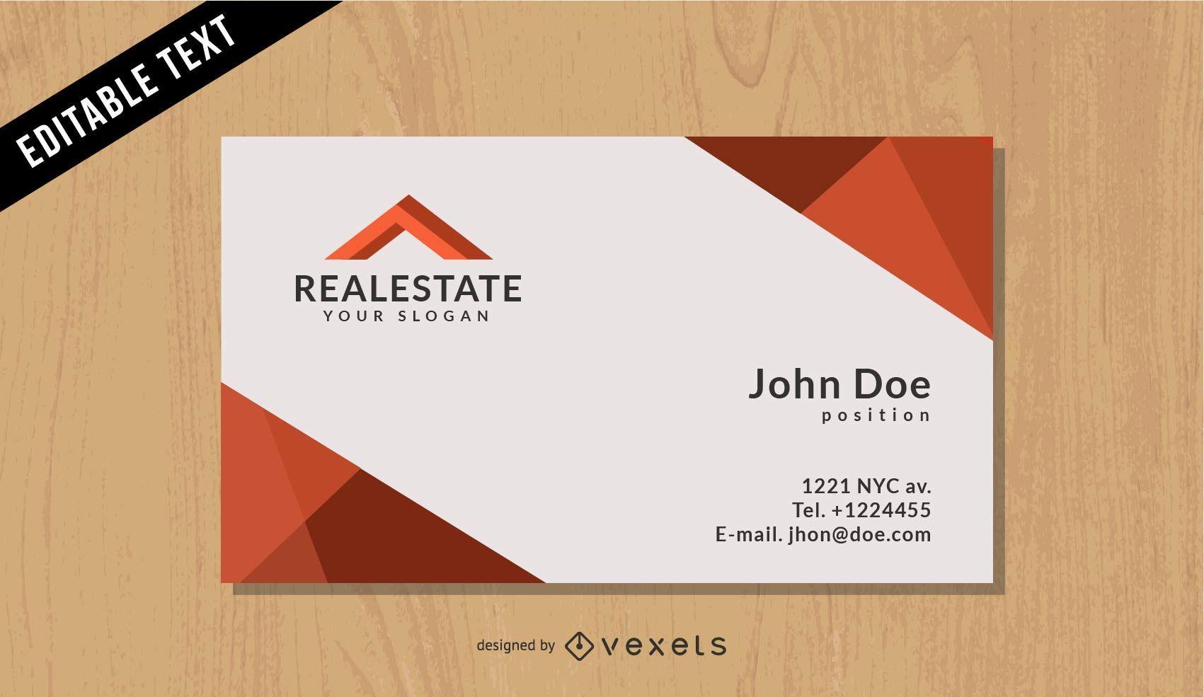 Real Estate Black Business Card