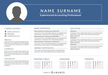 Classic 1 Page Resume Template