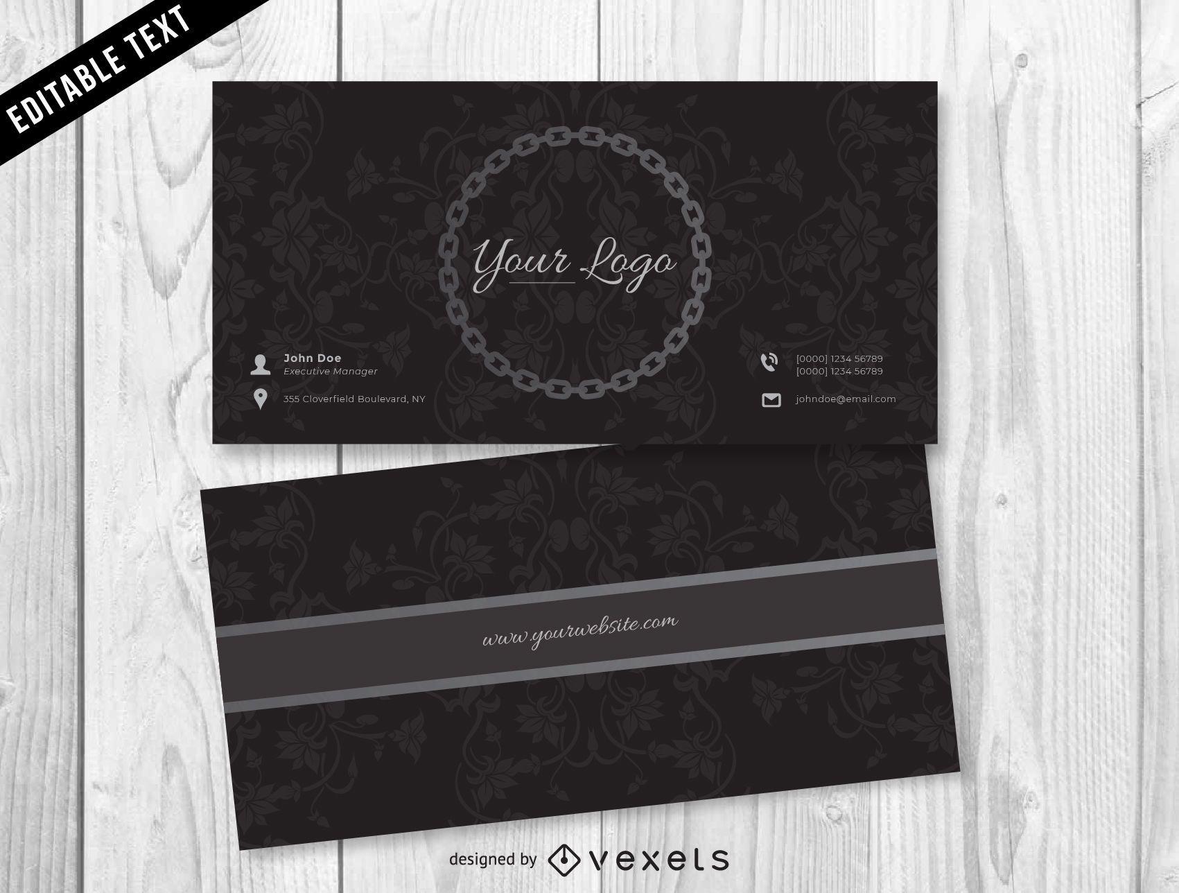 Dark Jewelry Business Card Design - Vector download
