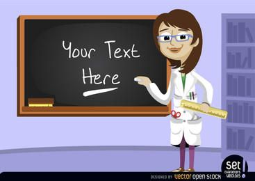 Lehrer mit Tafel in der Klasse