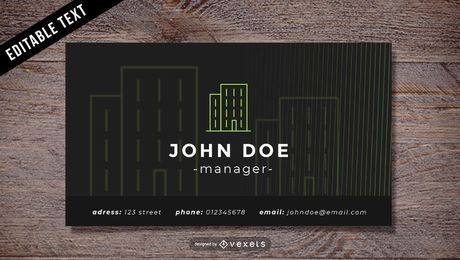 Cartão editável dos bens imobiliários