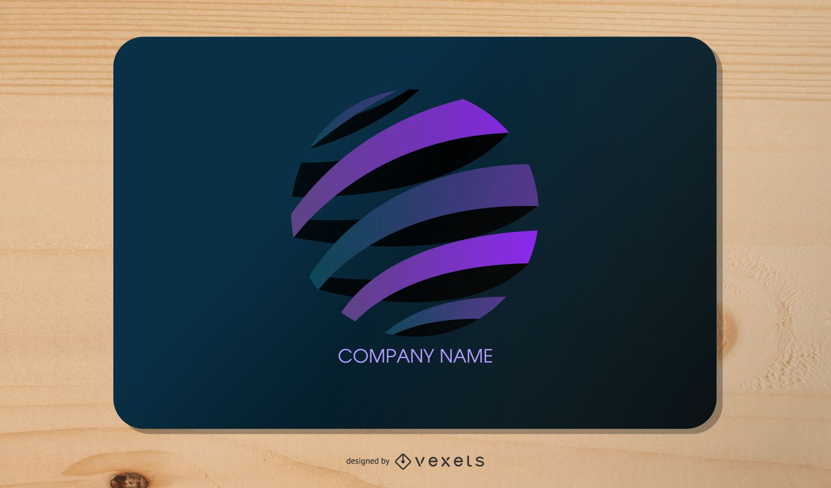 Dark and Purple Stylish Business Card