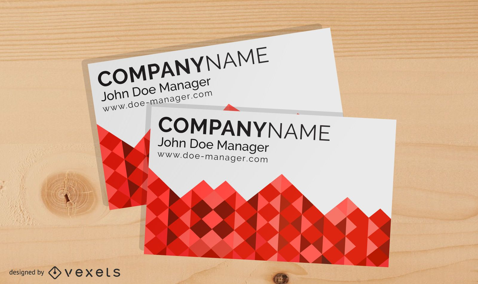 Classic Red and White Business Card Template