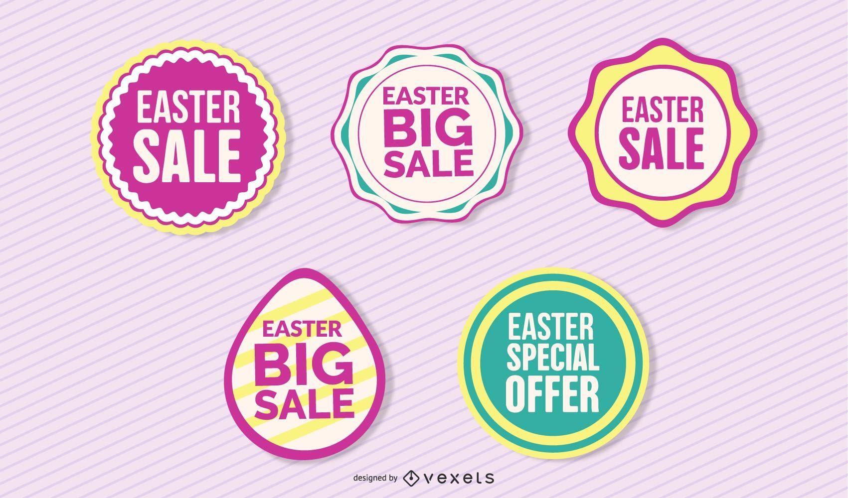 Vintage Easter Discount Badge Set