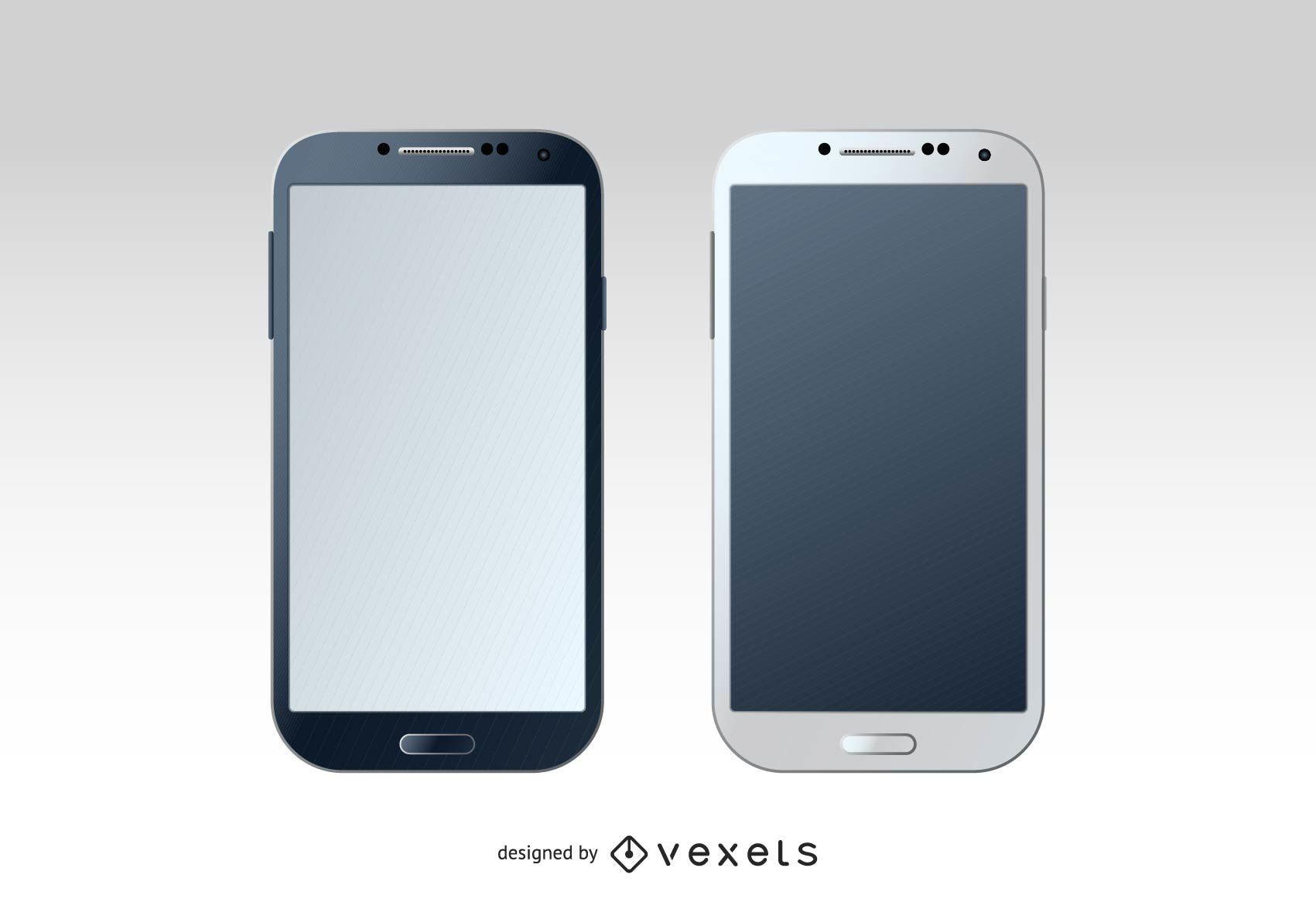 Samsung Galaxy S4 Mockup - Vector download