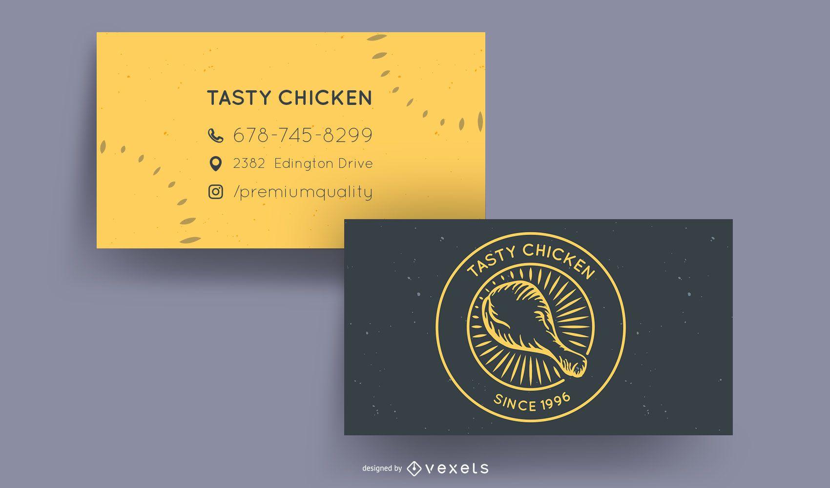 Cartão de negócio de restaurante Chicken Palace