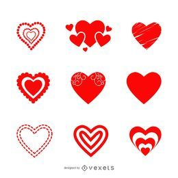 Valentine Heart Icon Set