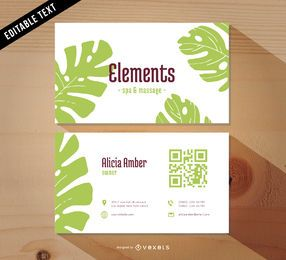 Beautiful Spa Business Card Template