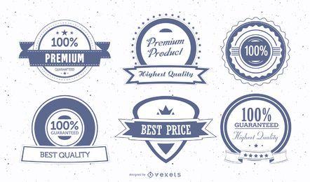 Vintage Premium Schild Abzeichen und Stempel