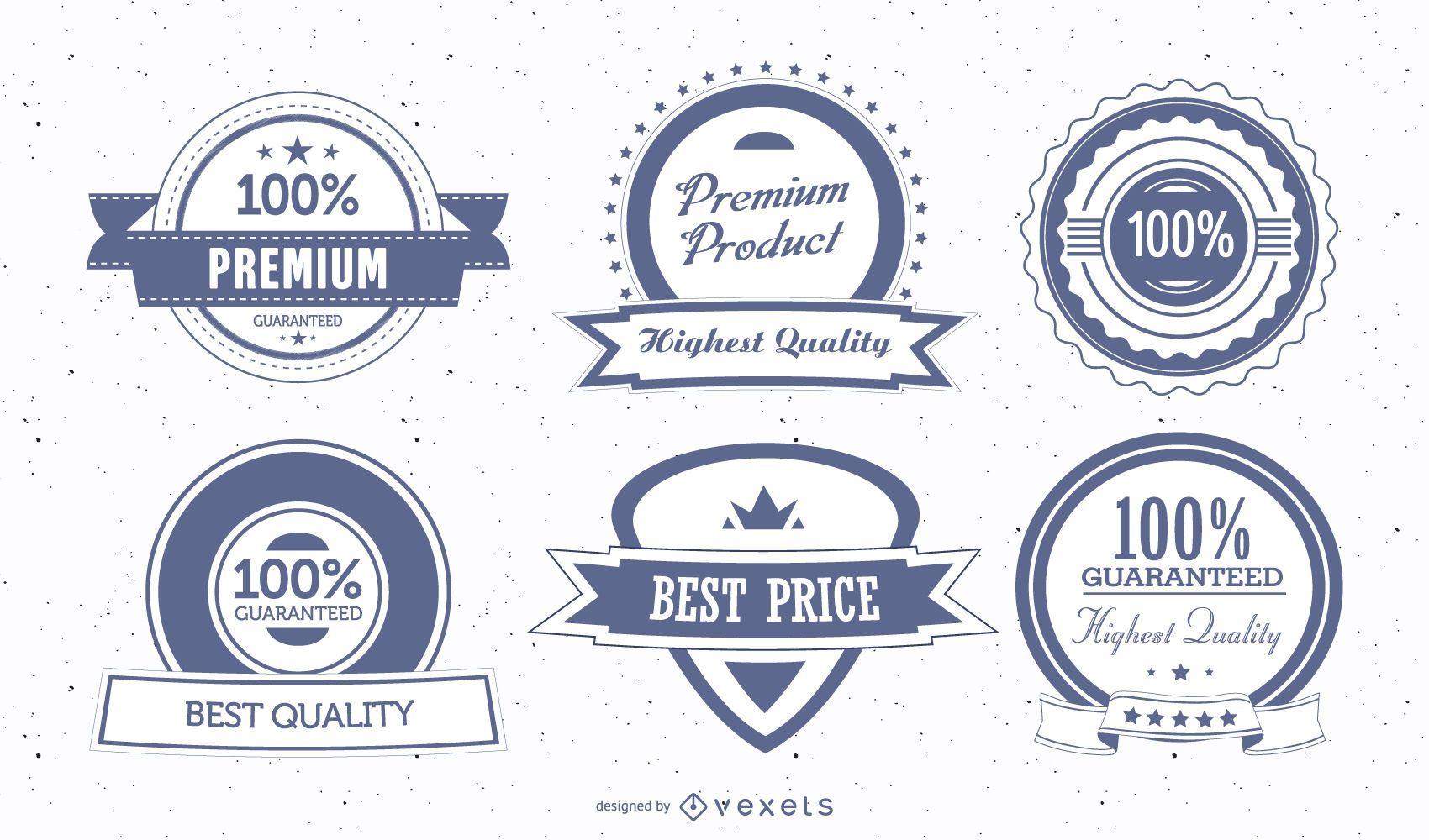 Insignias y sellos de escudo premium vintage