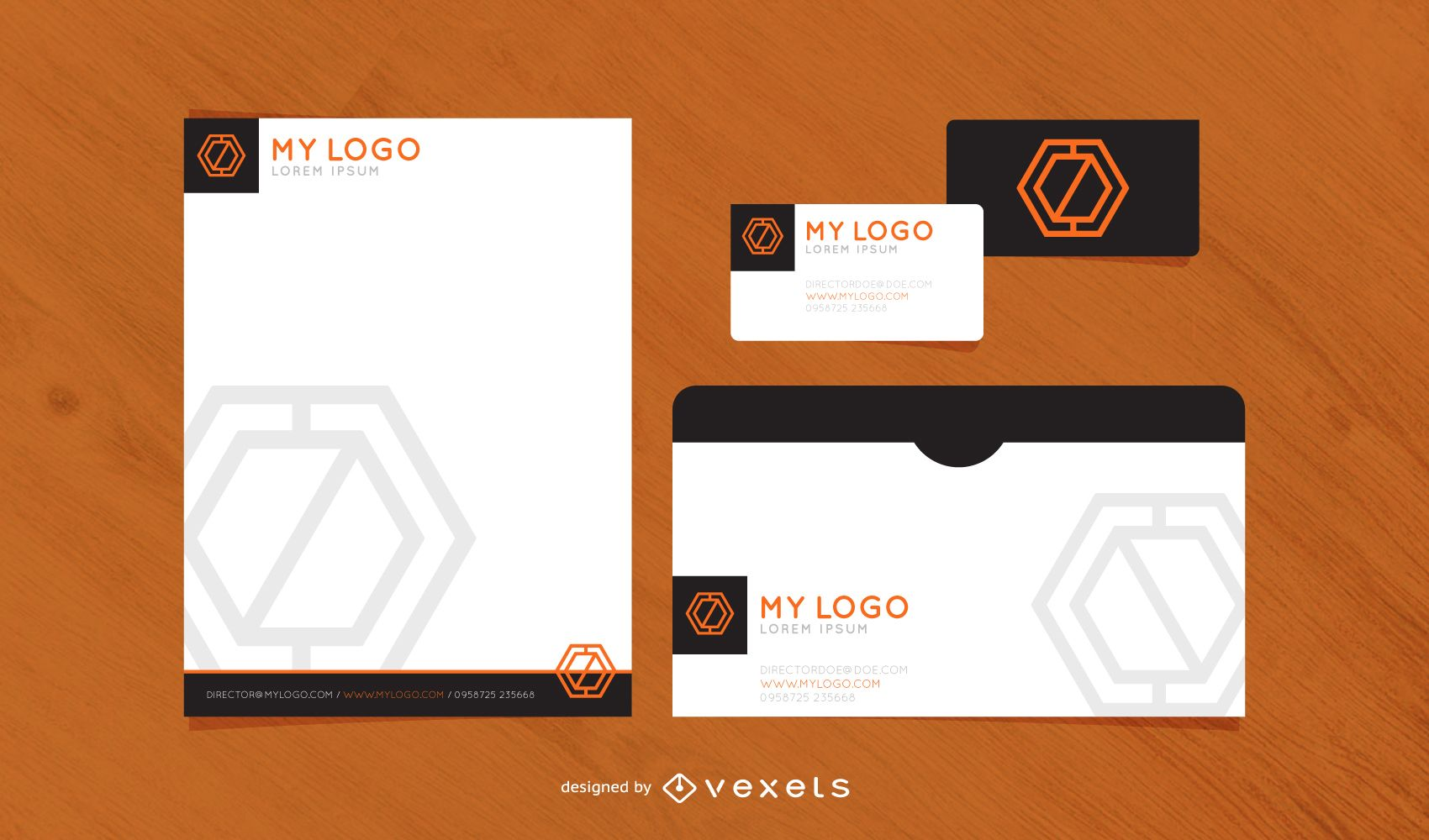 print ready standard stationary template vector download