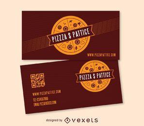 Cartão de visita do fast food da pizza & do c