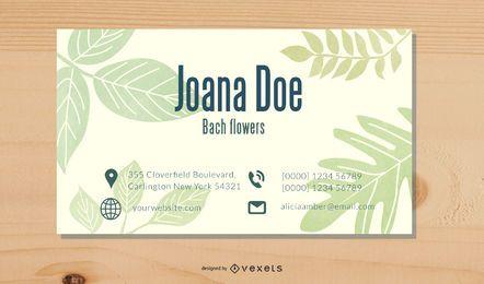 Plantilla de tarjeta de visita floral elegante