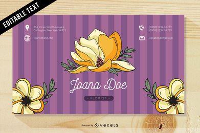 Plantilla de tarjeta de visita floral rosáceo