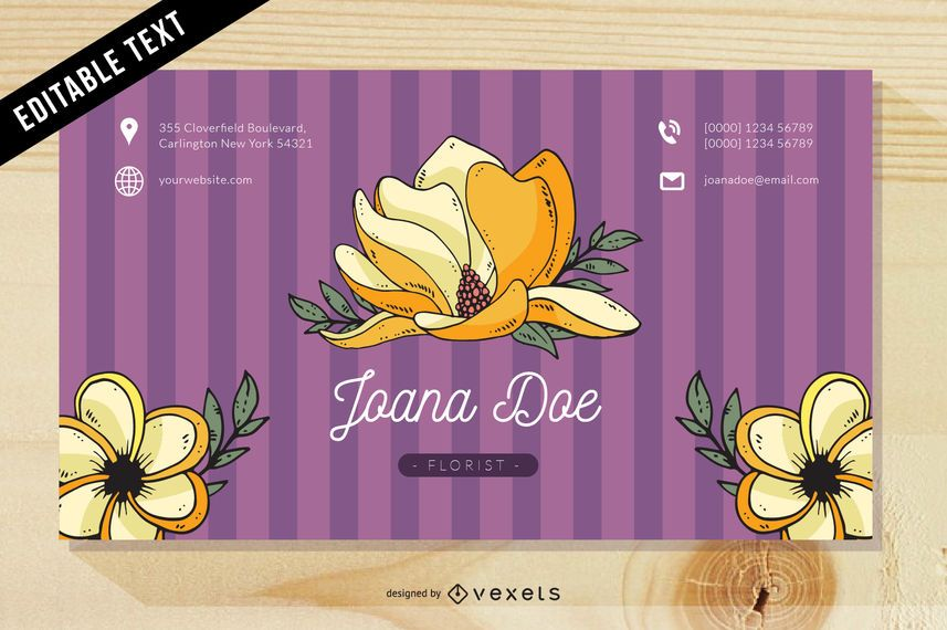 Pinkish floral business card template vector download pinkish floral business card template cheaphphosting Gallery