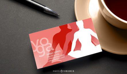 Plantilla de tarjeta de visita de yoga verde