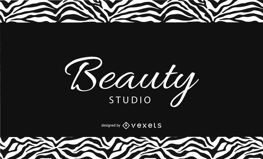 Black & White Zebra Print Business Card - Vector download