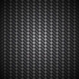 Fundo de padrão metálico de fibra de carbono