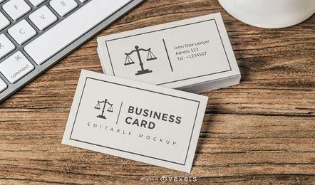 Tarjeta de visita del abogado de Front & Back