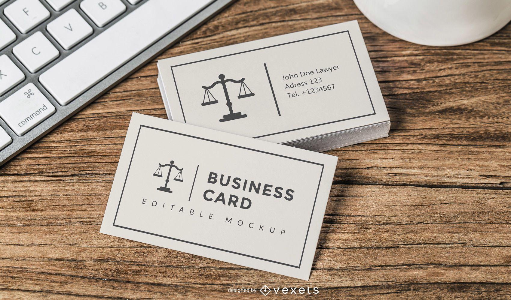 Modelo de cartão de visita de advogado