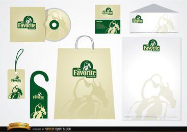 Design de embalagem de artigos de papelaria de relva