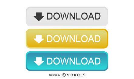 Botões de download retangulares brilhantes