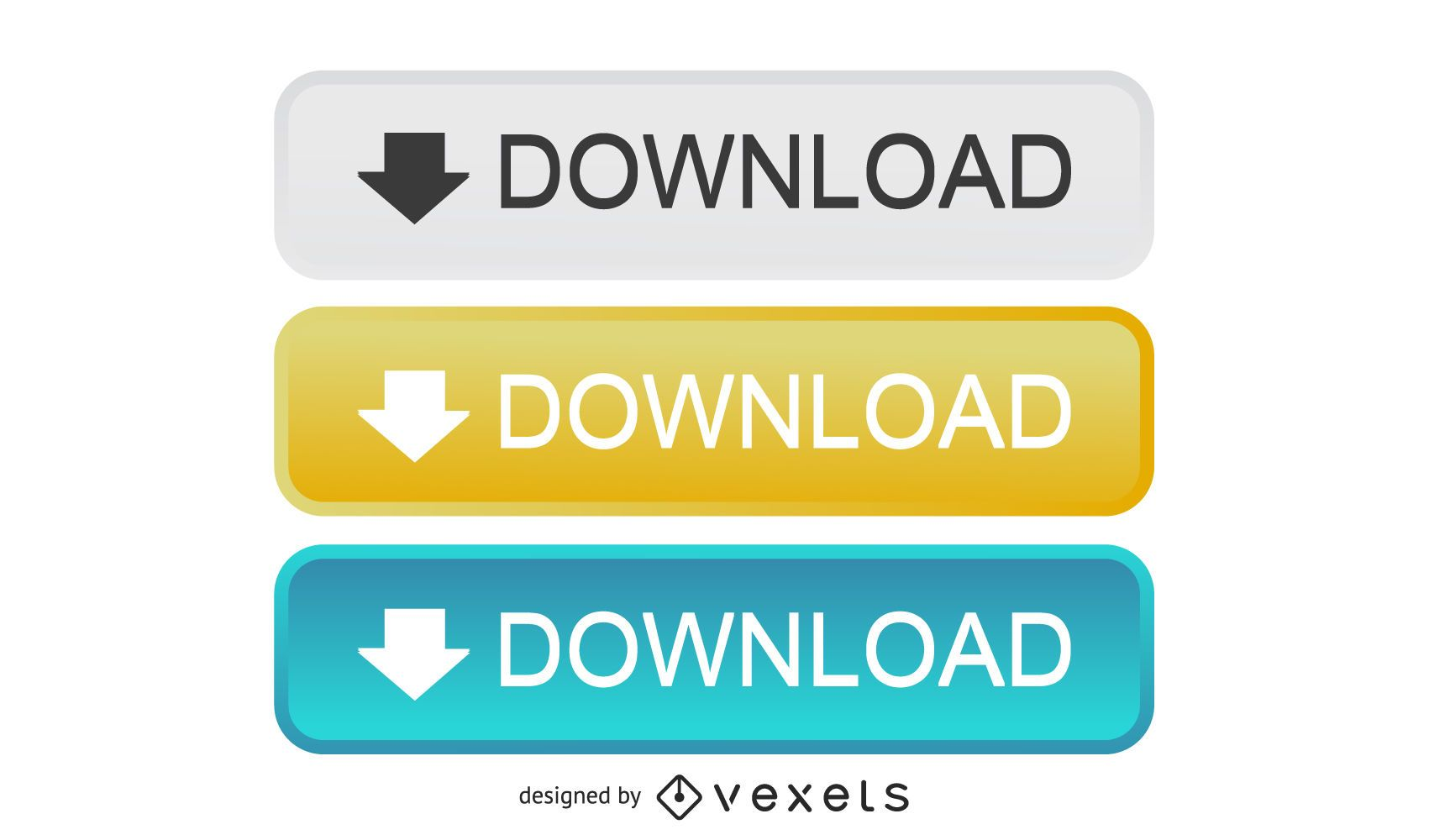 Glossy Rectangular Download Buttons
