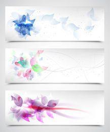 Fluoreszierende künstlerische Blumenhintergründe