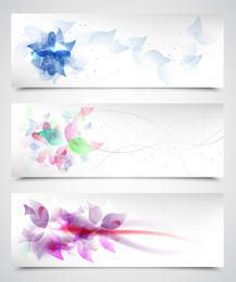 Planos de fundo florais artísticos fluorescentes