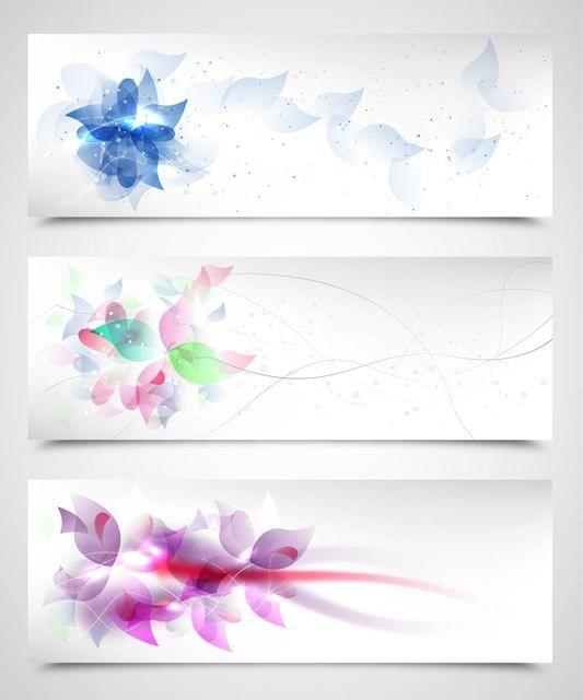 Fluorescent Artistic Floral Backgrounds