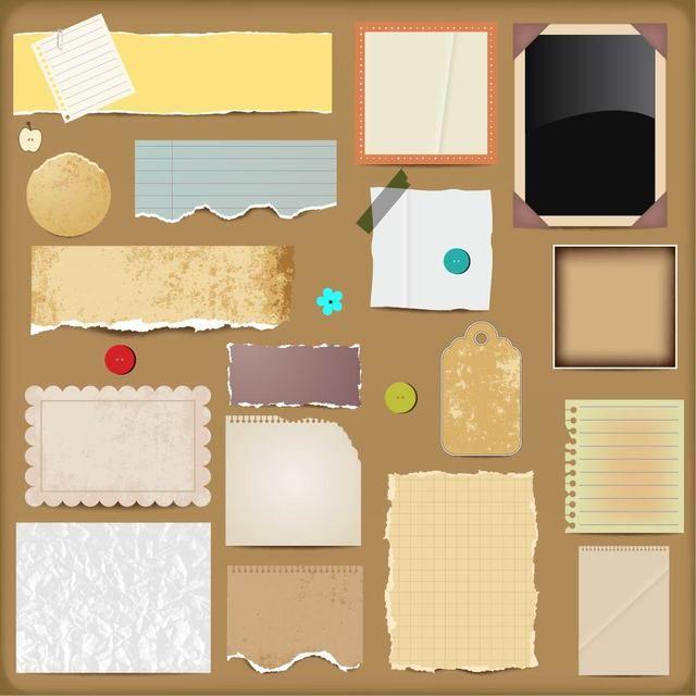 Conjunto de kit de álbum de recortes sucio