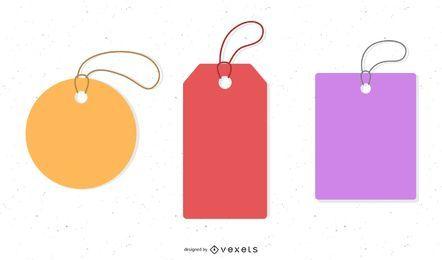 Etiquetas de precios abstractas minimalistas