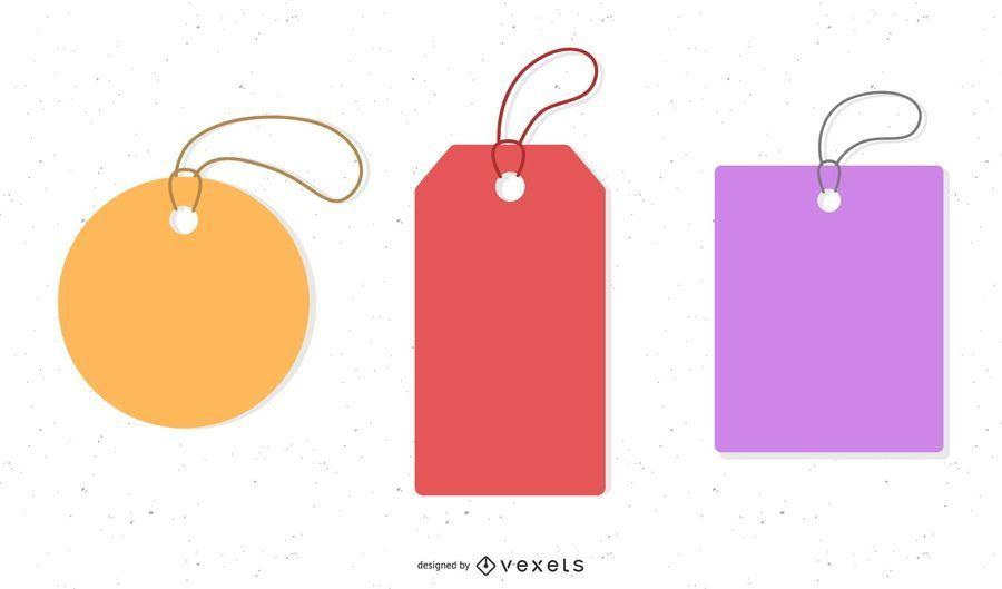 Etiquetas de precios minimalistas abstractos