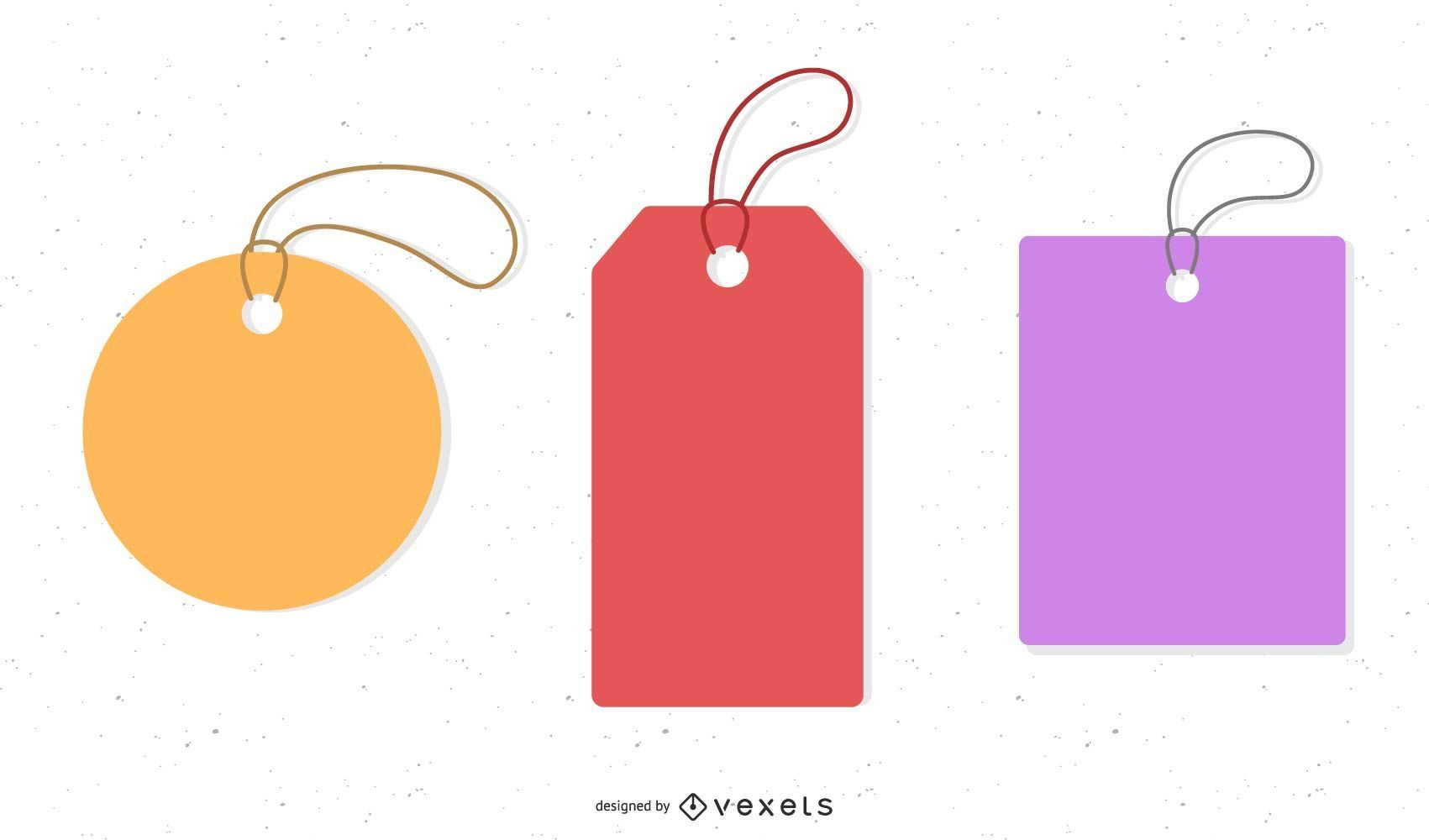 Etiquetas de preço abstratas minimalistas