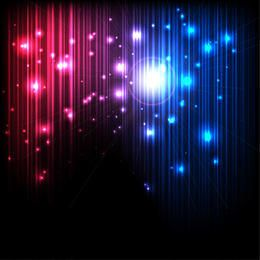 Fundo mágico brilhante com linhas e luzes