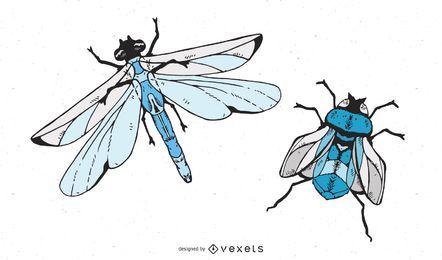 Fliegende Insekten