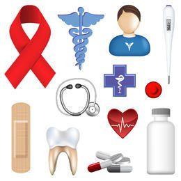 Ferramentas de Cirurgia Medicina e ícones do equipamento
