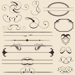 Kalligraphische Dekoration und Rahmenpackung