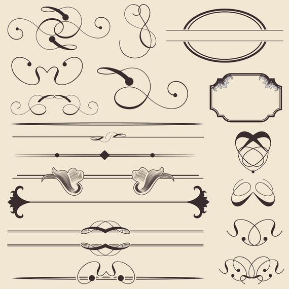 Calligraphic Decoration and Frame Pack
