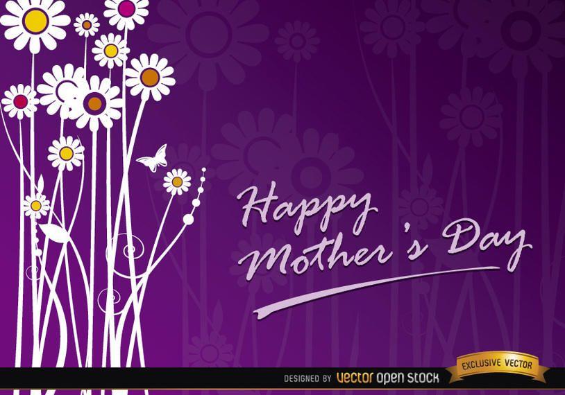 Tarjeta de regalo de flores para el día de la madre.